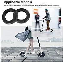 Houkiper Ruedas de Repuesto para Scooter eléctrico, neumático de reemplazo de 10 Pulgadas, Compatible con Xiaomi M365