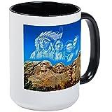 CafePress - Founding Father In The Sky Mugs - Coffee Mug, Large 15 oz. White Coffee Cup