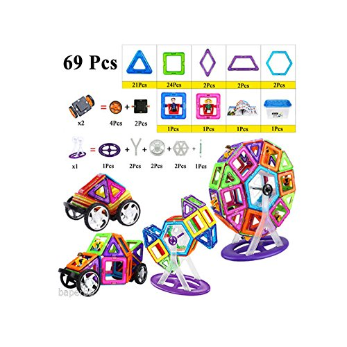 69 Pcs Magformers Magnetic Building Sets Blocks Educational