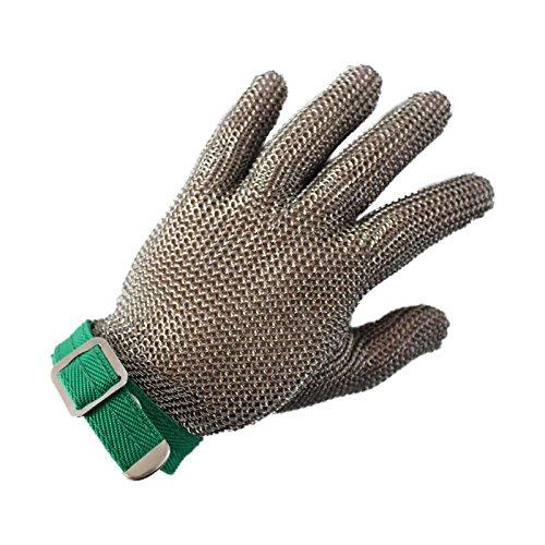 Acero inoxidable pulido malla cadena Mail guantes resistente ...