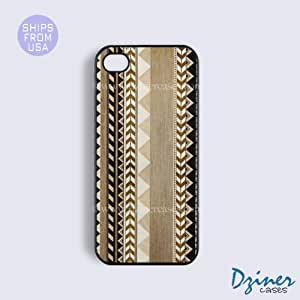 iPhone 5c Tough Case - Wood Aztec Brown iPhone Cover