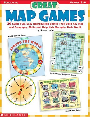 Great Map Games: 20 Super Fun, Easy Reproducible Games That Build Key Map and Geography Skills—and Help Kids Navigate Their - Keys Map For Kids