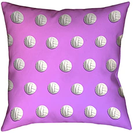 ArtVerse Katelyn Smith Pink Purple Ombre Volleyball X 40 Floor Pillows Double Sided Print With Concealed Zipper Insert