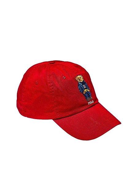 Ralph Lauren Gorra Polo Oso Rojo Hombre y Mujer U Rojo: Amazon.es: Ropa y accesorios