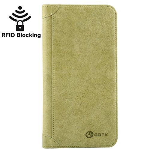 Women's Wallet – Genuine Italian Leather Long Bifold RFID Blocking Wallet