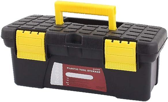 X-DREE Electricista Ingeniero Plástico Capas dobles Herramientas Hardware Caja de almacenamiento Negro Amarillo (936f0159b93557ca5d53be84afeae0e8): Amazon.es: Bricolaje y herramientas