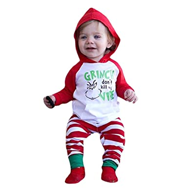 8fab933e8ccbe Taylorean 0-24 Months Newborn Infant Baby Boys Girls My First Christmas  Letter Print Hooded