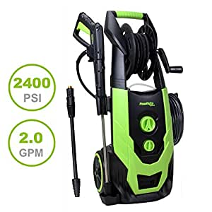 PowRyte Elite 2400 PSI 2.00 GPM Electric Pressure Washer with Hose Reel