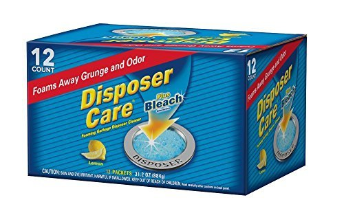 Glisten DP12B Disposer Care Foaming Garbage Disposer Cleaner-Twelve Pack (12 Uses)-Powerful Disposal Cleanser for Complete Cleaning of Entire Disposer-lemon Scented, 14.7 Oz