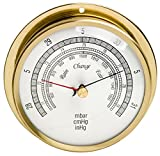 H-B DURAC Barometer; 940 to 1058 Milibar Range, Stainless Steel and Brass (B61502-0000)