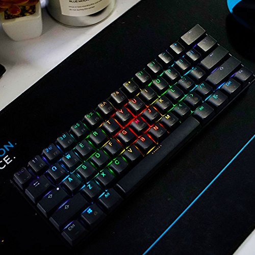 LeaningTech LTC K61 61-Key RGB LED Backlit Bluetooth Wireless/Wired Multi-Device Mechanical Keyboard for PC / Mac / iPad / iPhone / Smartphone / Laptop, Brown Switch by LEANINGTECH (Image #7)