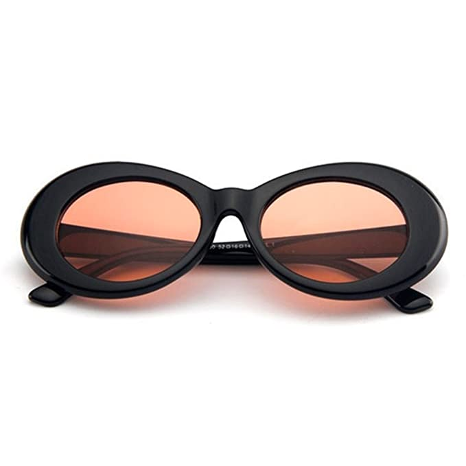 77ca6cd23ff1 The Culture Classic s Sunglasses Cobain Oval Thick Frame Clout Goggles  (Black Frame + Clear Orange