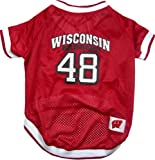 Pets First NCAA Dog Jersey, Medium, University of Wisconsin Badgers