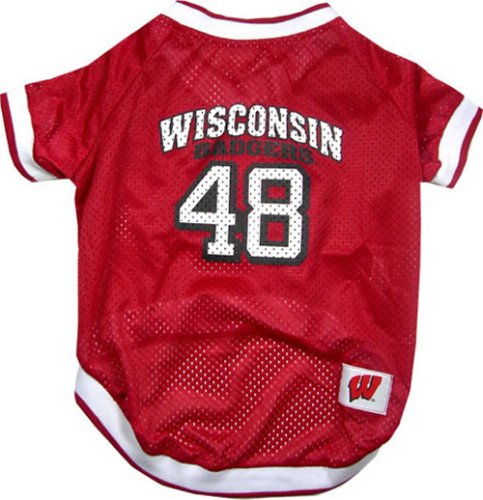 NCAA Dog Jersey, Large, University of Wisconsin Badgers