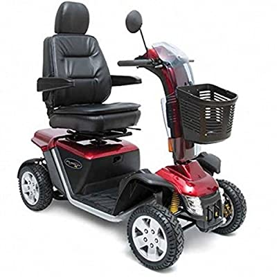Pride Mobility - Pursuit XL - Heavy Duty Scooter - 4-Wheel - Candy Apple Red