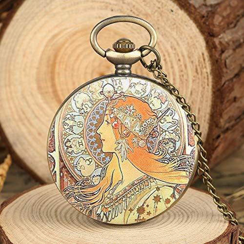 Reloj analógico de Cuarzo con diseño de Mucha de Estilo Elegante para Mujer: Amazon.es: Relojes