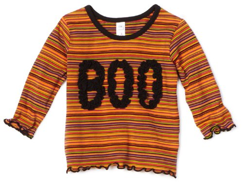 Love U Lots Baby Girls' Ruffle Boo Multistripe Tee