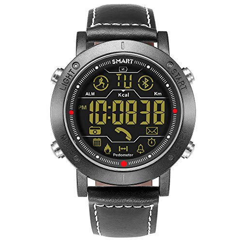 Sports Smart Watch, Samxu Digital Outdoor Sports Smartwatch for Men with Pedometer, Calorie Counter, Distance, Stopwatch (Black)