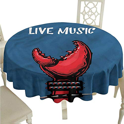 - ScottDecor Table Cover Indie,Crab Claw Spiky Wristlets Tassel Tablecloth Round Tablecloth D 54