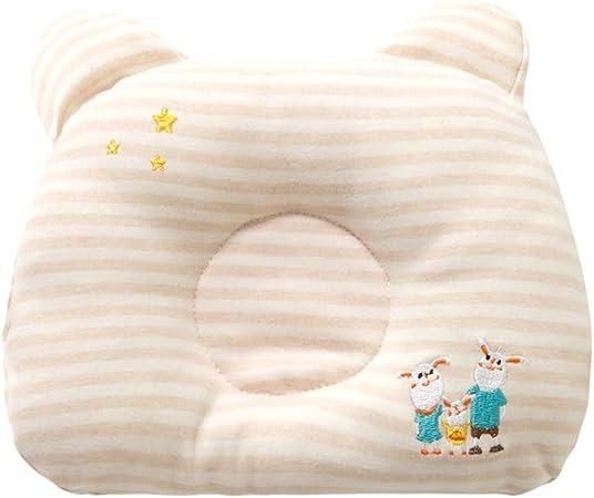 Recién nacido / Baby- Bebé forma de almohada almohada almohada bebé recién  nacido for corregir anti-sudor almohada de algodón transpirable niño recién  nacido Adecuado para bebés masculinos y femeninos: Amazon.es: Hogar