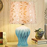 HZB The Simplicity Of Modern European Ceramic Lamp Bedroom Bedside Lamp Warm Luxury American Creative Living Room Lamp ( Color : A )