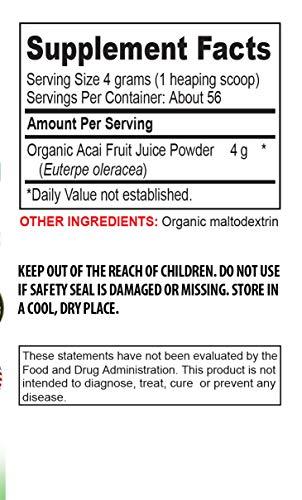 antioxidant Formula Supplement - Organic ACAI Juice Powder - Pure acai Natural - 3 Cans 24 OZ (195 Servings) by VIP VITAMINS (Image #1)