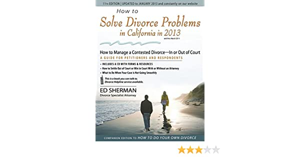 How to Solve Divorce Problems in California in 2013: How to