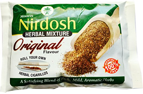 NIRDOSH Organic Herbal Natural Smoking Mixture 100% Nicotine Tobacco Free - 05 Packs(1.75oz Per Pack) Pouch Packaging