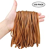 150 Pack Large Rubber Bands, Esee Heavy Duty Trash Can Band, Strong Elastic Bands for Office Supply, Garbage Cans, File Folders, Size 8 inches