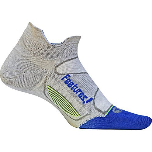 Feetures Elite Ultra Light No Show Tab Sock - Gray/Olympi...