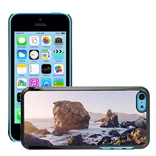 Stampato Modelli Hard plastica Custodie indietro Case Cover pelle protettiva Per // M00421775 Vagues Côte Shore eau de mer de l'océan // Apple iPhone 5C