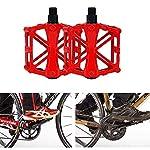 YGHH-1-Paio-Bicicletta-Pedale-Antiscivolo-Pedale-di-Mountain-Bike-Bici-Lega-Alluminio-Pedale-Durevole-Lega-Alluminio-Antiscivolo-Pedali-per-Bici-da-Strada-per-Bici-da-Strada-Montagna-BMX-Rosso
