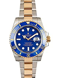 Brand New ROLEX SUBMARINER DATE STEEL AND YELLOW GOLD BLUE CERAMIC 116613 BOX/PAPERS
