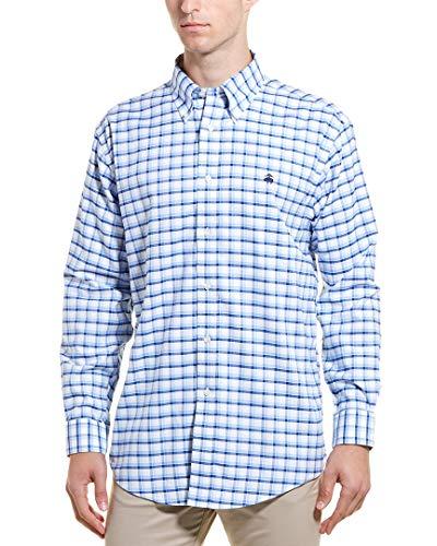 Brooks Brothers Mens Madison Buttondown Shirt, XL, Blue (Shirt Brothers Dress Button Brooks Down)