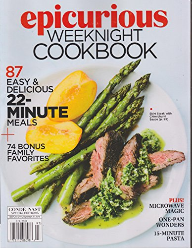 - Epicurious Weeknight Cookbook Magazine Fall 2016