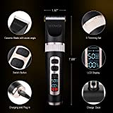 WOWAX-Hair-Clipper-Professional-Cordless-Rechargeable-Men-Hair-Trimmer-LCD-Display-4-Guide-Comb