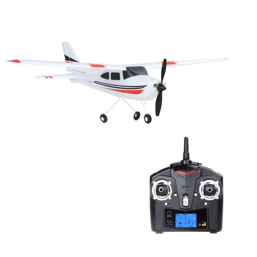 New F949 3Ch RC Airplane Fixed Wing Plane Outdoor toys with 2.4G Transmitter, Extra Battery and Propeller, By Park10 Toys