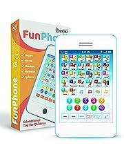 Boxiki kids Engels leertablet, grappige mobiele telefoon met 6 educatieve spellen voor kinderen, educatief speelgoed