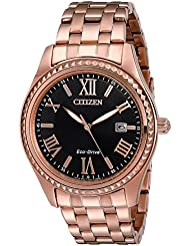 Citizen Womens EO1143-54E Eco-Drive Analog Japanese Quartz Rose Gold Stainless Steel Watch