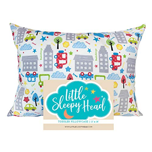 Little Sleepy Head Toddler Pillowcase – Cars, 13 x 18 Inch