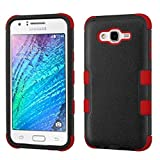 MyBat TUFF Hybrid Cover for SAMSUNG Galaxy J7 (2015) - Natural Black/Red