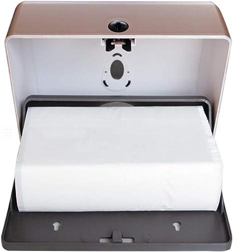 contenedor de papel Portarrollos de papel de seda de pared para ba/ño dispensador de toallas de papel gris OUNONA