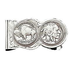 Montana Silversmith Buffalo Indian Nickel Scalloped Money Clip - MCL50