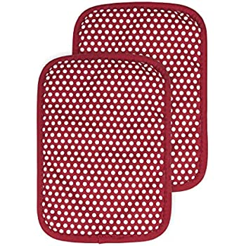 RITZ Royale 031283 Silicone Pot Holder, 2-Pack, Paprika