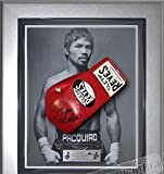 Signed Manny Pacquiao Cleto Reyes Red Pro Fight Glove Framed- Pacman - Autographed Boxing Gloves