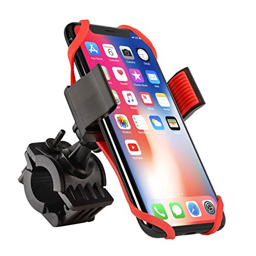 Comfortable Silicone Bicycle Handlebars Safeness 360/° Rotation 4.5-6.0 VUP Bike Phone Mount Motorcycle /& Bike Phone Holder for iPhone X,XS,XR//8//8Plus//7//7 Plus,Samsung Galaxy S9//S8,Nexus LG