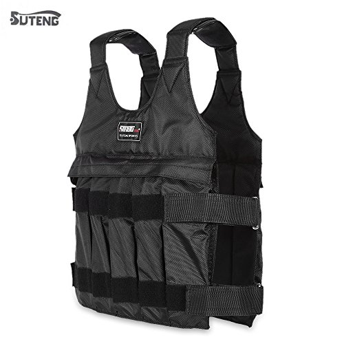 Aichoic SUTENG 50kg Max Loading Adjustable Weighted Vest Fitness Training Jacket by Aichoic