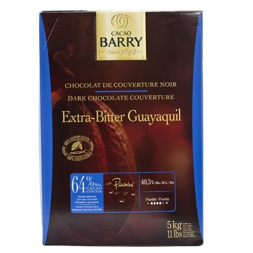 Guayaquil Dark Pistoles 64 % (11 lb) by Cacao Barry (Image #1)