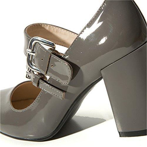 Nine SevenPump Shoes - Sandalias con cuña mujer gris