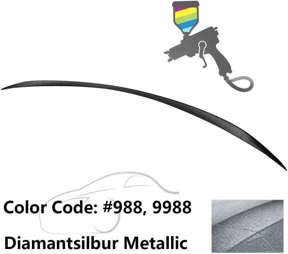 049 Magno Kaschmirweiss Metallic Matte ABS Rear Wing IKON MOTORSPORTS Trunk Spoiler Compatible With 2015-2020 Benz W205 C Class Factory Style Painted #0049